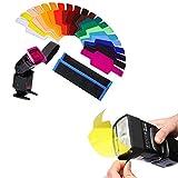 20Pcs Filtros de Colores Transparentes, Filtro de Gel de Corrección, Filtro de Luz,...