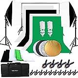 HAKUTATZ® Juego de estudio fotográfico profesional, lámpara de estudio, Sets de...