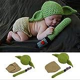 Conjuntos de Accesorios de fotografía para bebés, Conjunto de Trajes de Yoda de...